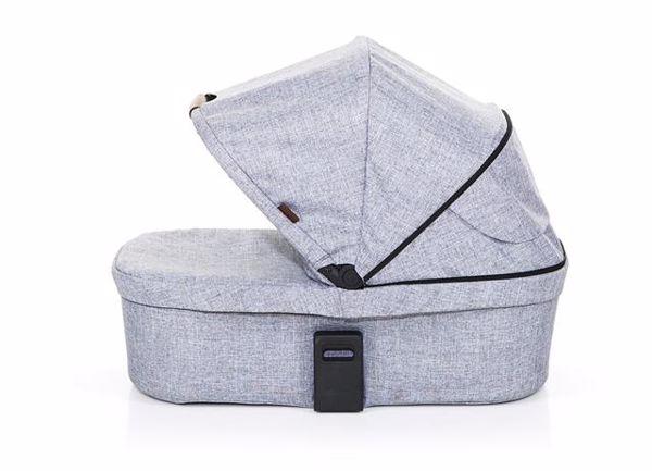 ABC Design Carrycot for Salsa 3/4, Zoom Coal vanička upevniteľná na konštrukciu detského kočíka - Brendon - 55815