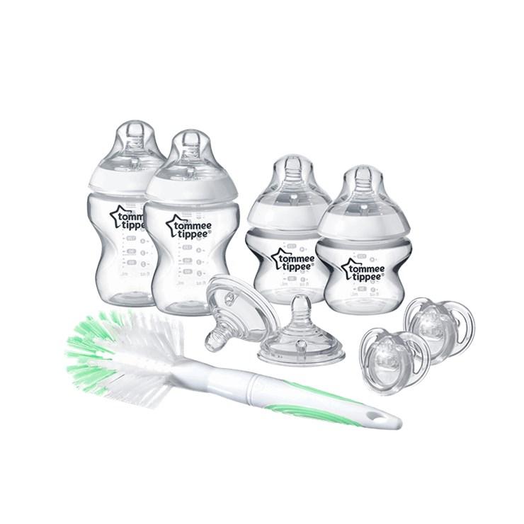 Tommee Tippee CTN Bottle feeding starter kit New 9 pcs  plastová cumlíková fľaša - Brendon - 58638