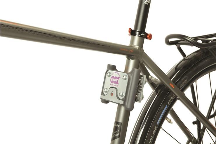 OK Baby 10+ Grey-blue bicikliülés hátra - Brendon - 61302