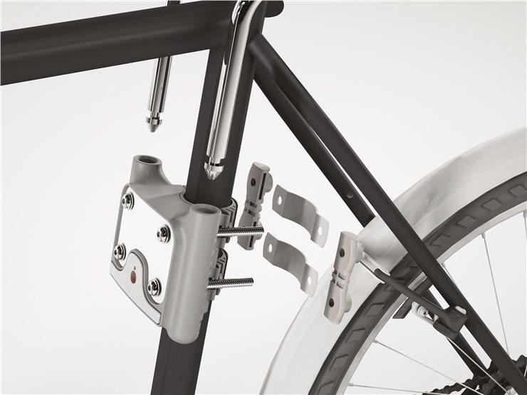 OK Baby 10+ Grey-blue bicikliülés hátra - Brendon - 61304