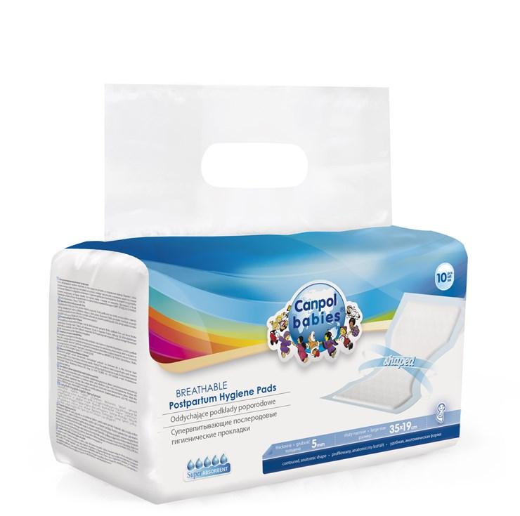 Canpol babies Superabsorbent postpartum hygiene pads 10 pcs  gyermekágyas betét - Brendon - 61541