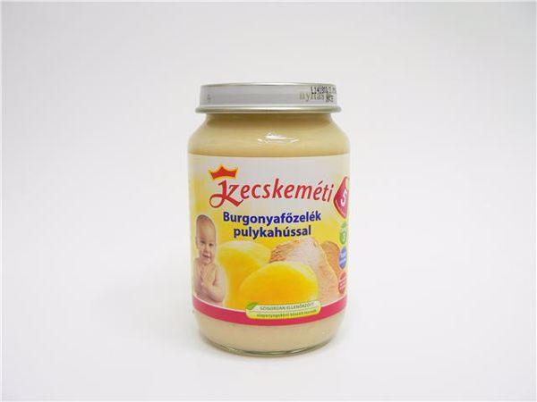 Kecskeméti Burgonya főzelék pulykahússal 190g  bébiétel - Brendon - 64871