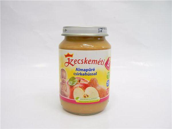 Kecskeméti Almapüré csirkehússal 190g  bébiétel - Brendon - 64878