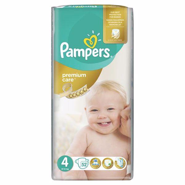 Pampers Premium Care 4 Maxi 52 pcs  eldobható pelenka - Brendon - 64997
