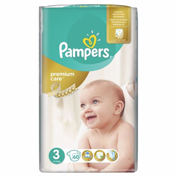 Pampers Premium Care 3 Midi 60 pcs  eldobható pelenka - Brendon - 64998