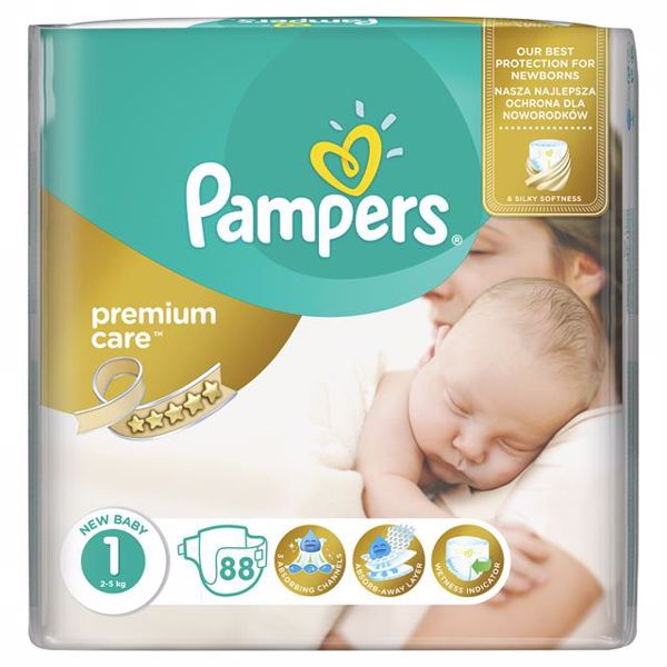 Pampers Premium Care 1 Newborn 88 pcs  eldobható pelenka - Brendon - 65000