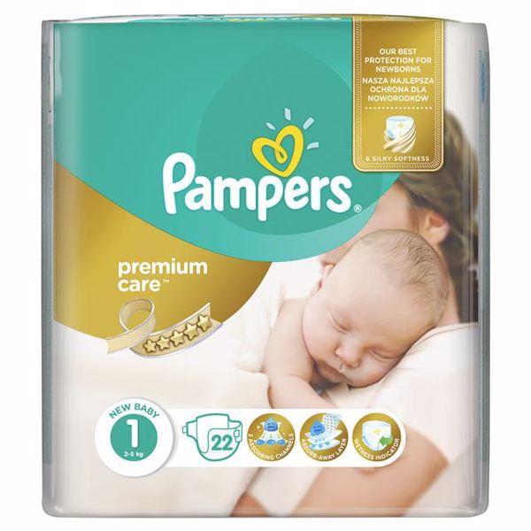 Pampers Premium Care 1 Newborn 22 pcs  eldobható pelenka - Brendon - 65001