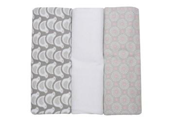 Motherhood Flannel Wraps 70 x 80cm 3 pcs Grey Birds textil pelenka bcfe44ab0d