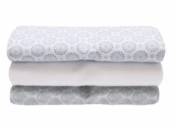 Motherhood Flannel Wraps 70 x 80cm 3 pcs Blue Fishes textil pelenka aca520a0d7