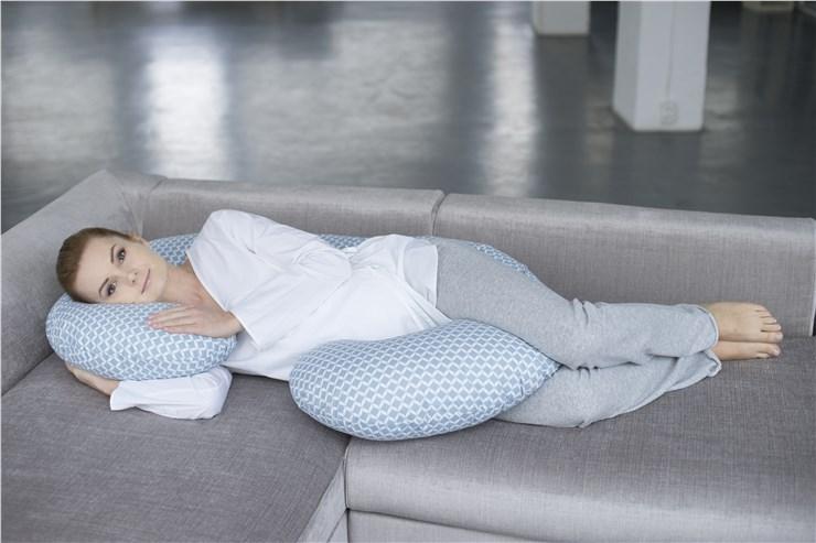 Motherhood Sleepy-C Maternity Support Pillow Classics Blue kismama pihenőpárna - Brendon - 67577