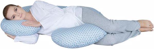 Motherhood Sleepy-C Maternity Support Pillow Classics Blue kismama pihenőpárna - Brendon - 67583