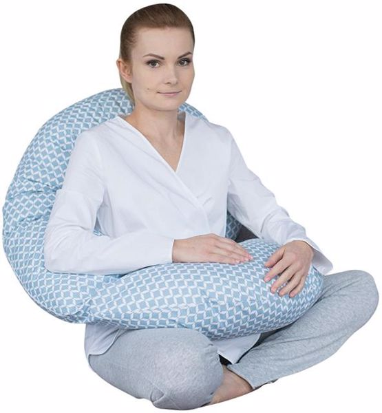 Motherhood Sleepy-C Maternity Support Pillow Classics Blue kismama pihenőpárna - Brendon - 67584