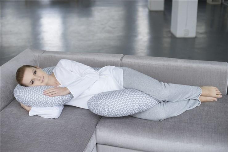 Motherhood Sleepy-C Maternity Support Pillow Classics Grey kismama pihenőpárna - Brendon - 67592