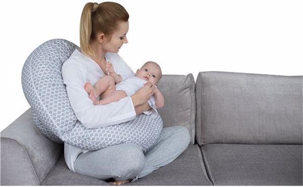 Motherhood Sleepy-C Maternity Support Pillow Classics Grey kismama pihenőpárna - Brendon - 67597