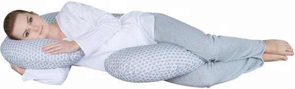 Motherhood Sleepy-C Maternity Support Pillow Classics Grey kismama pihenőpárna - Brendon - 67598
