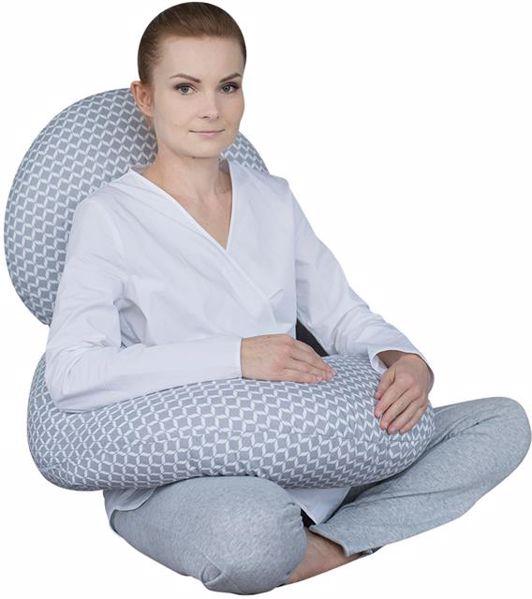 Motherhood Sleepy-C Maternity Support Pillow Classics Grey kismama pihenőpárna - Brendon - 67599