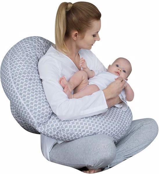 Motherhood Sleepy-C Maternity Support Pillow Classics Grey kismama pihenőpárna - Brendon - 67600