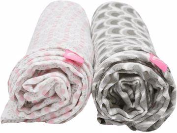 Motherhood Premium Cotton Muslin Wraps 100x120cm 2 pcs Grey Birds  fürdőlepedő 1991d48a96