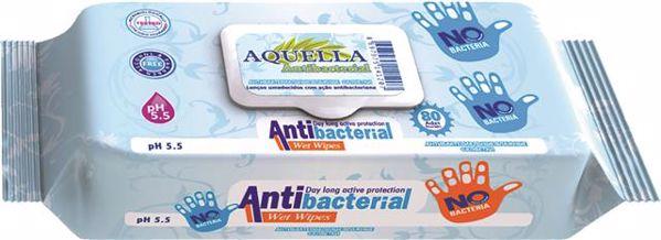 Aquella Antibacteria 80 pcs  kézfertőtlenítő kendő - Brendon - 68078