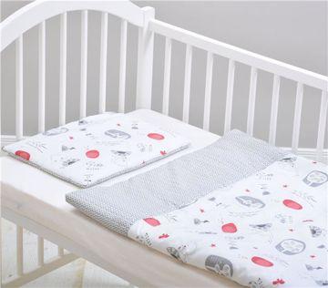Brendon HUN-M/90*130 Ele Grey-Red posteľná bielizeň - Brendon - 68796