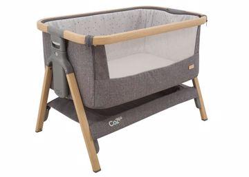 tutti Bambini CoZee Bedside Crib 80,5x51 cm Oak and Charcoal baba-mama kiságy - Brendon - 70548