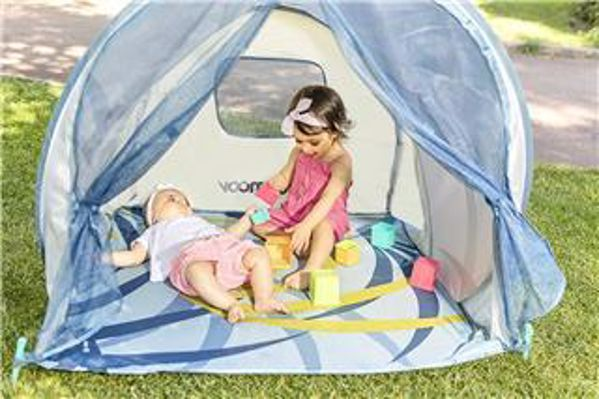 Babymoov Anti-UV Baby Tent New blue/white stan - Brendon - 71641