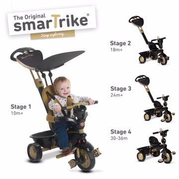 smarTrike Dream 4 in1 TS Gold / Black tricykel - Brendon - 71751