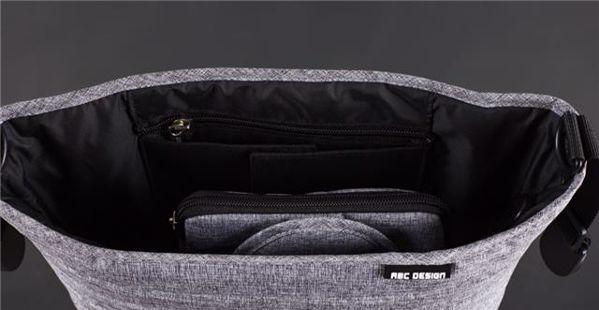 ABC Design Organizer Graphite Grey taška na plienky - Brendon - 80849