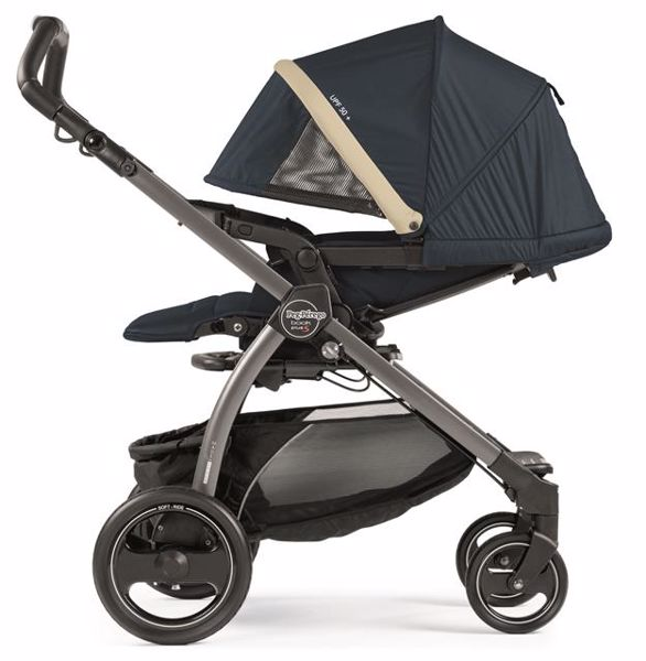 Peg Perego Book S Completo Modular Pop Up S+Elite C Breeze Blue-Jet babakocsi - Brendon - 82941