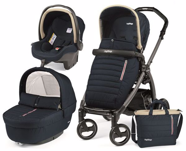 Peg Perego Book S Completo Modular Pop Up S+Elite C Breeze Blue-Jet babakocsi - Brendon - 82946