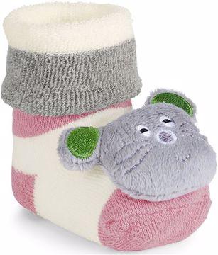 Sterntaler 8441703 723 Rose Grey Str Cat ponožky - Brendon - 83469