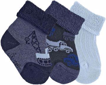 Sterntaler 8401721/3pcs 300 Denim ponožky - Brendon - 86607