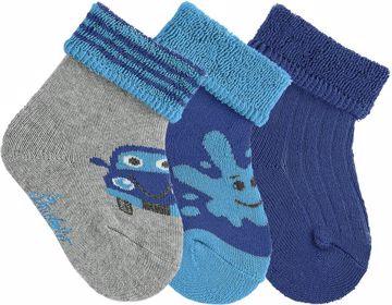 Sterntaler 8401722/3pcs 542 Grey Royal ponožky - Brendon - 86608