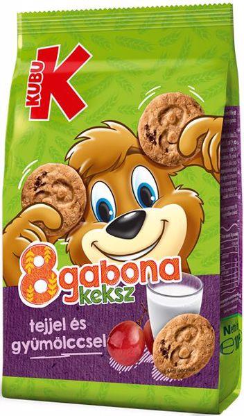 Kubu 8 gabona tejes-gyümölcsös 100g  keksz - Brendon - 95071