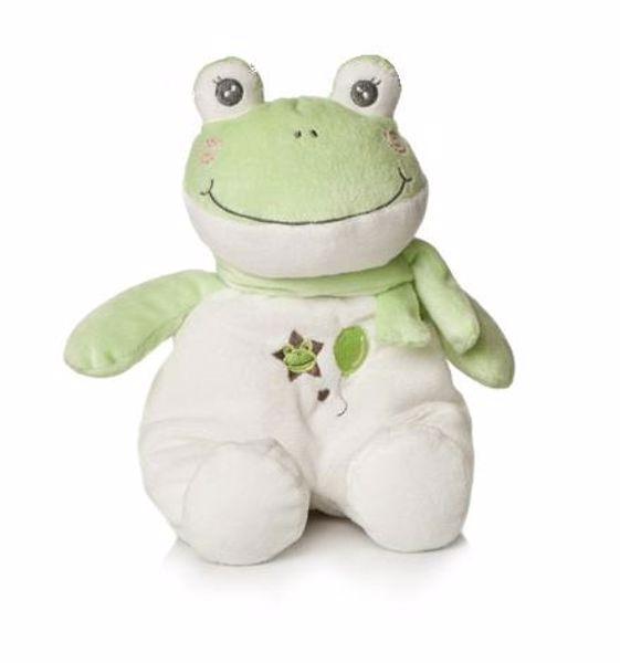 Artesavi Frog with scarf 28cm white-green  plyš - Brendon - 95627