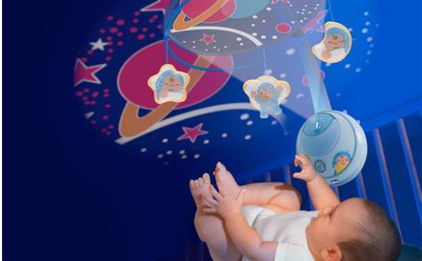 Chicco Magic Stars Cot Mobile Boy WS hrací kolotoč - Brendon - 96143