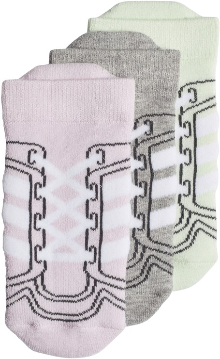 adidas CV7160/3pcs Pink-Grey-Green zokni - Brendon - 97366