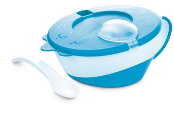 Canpol babies Bowl with spoon Blue tányér - Brendon - 97442