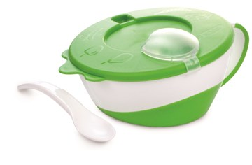 Canpol babies Bowl with spoon Green tányér - Brendon - 97443