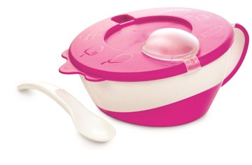 Canpol babies Bowl with spoon Pink tányér - Brendon - 97444
