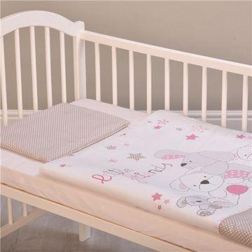 Brendon HUN-M/90*130 Little Friends Rose posteľná bielizeň - Brendon - 102231