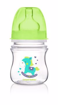 Canpol babies Easy Start wide neck anticolic bottle 120 ml Green műanyag cumisüveg - Brendon - 103512