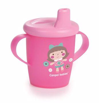 Canpol babies Dino collection 250 ml Pink itatópohár - Brendon - 106485