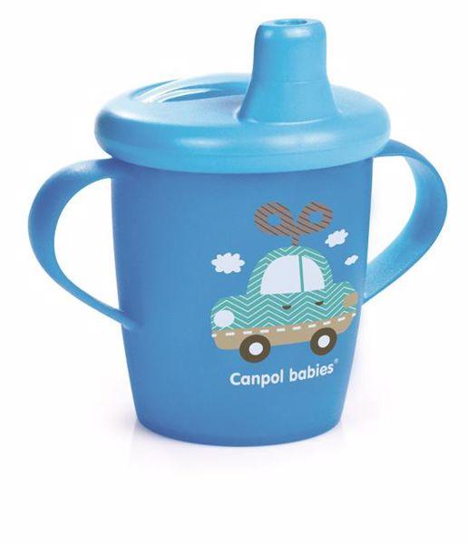 Canpol babies Dino collection 250 ml Blue itatópohár - Brendon - 106486