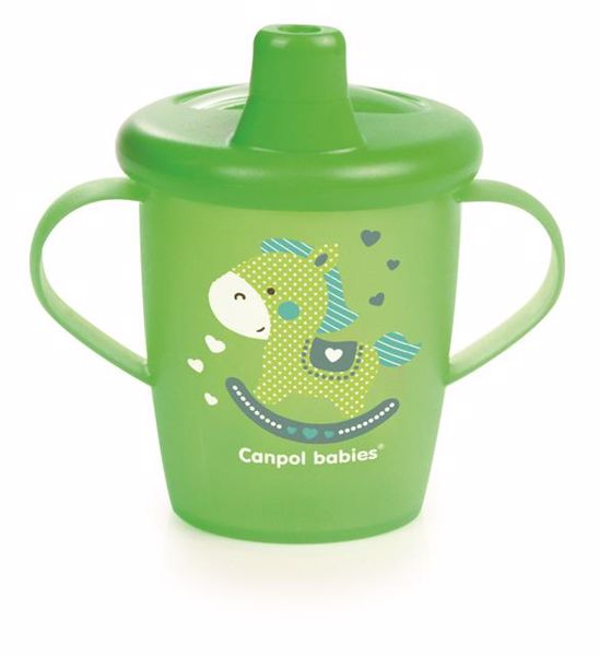 Canpol babies Dino collection 250 ml Green itatópohár - Brendon - 106487