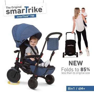 smarTrike Folding 700 Blue tricykel - Brendon - 110902