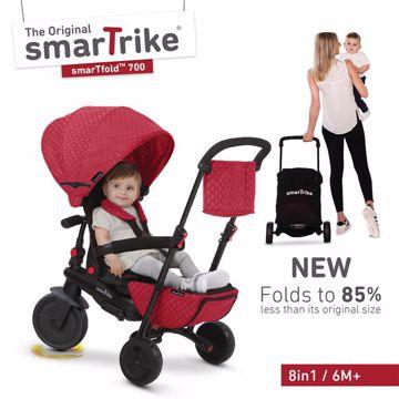 smarTrike Folding 700 Red tricykel - Brendon - 110918