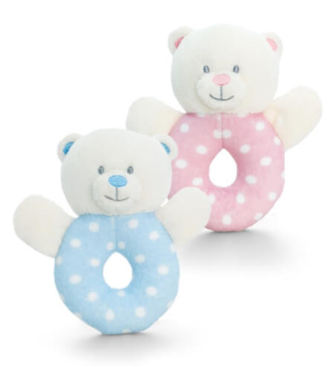 Baby Keel Baby Bear Ring Rattle 12cm Mixed colors plüss - Brendon - 112949