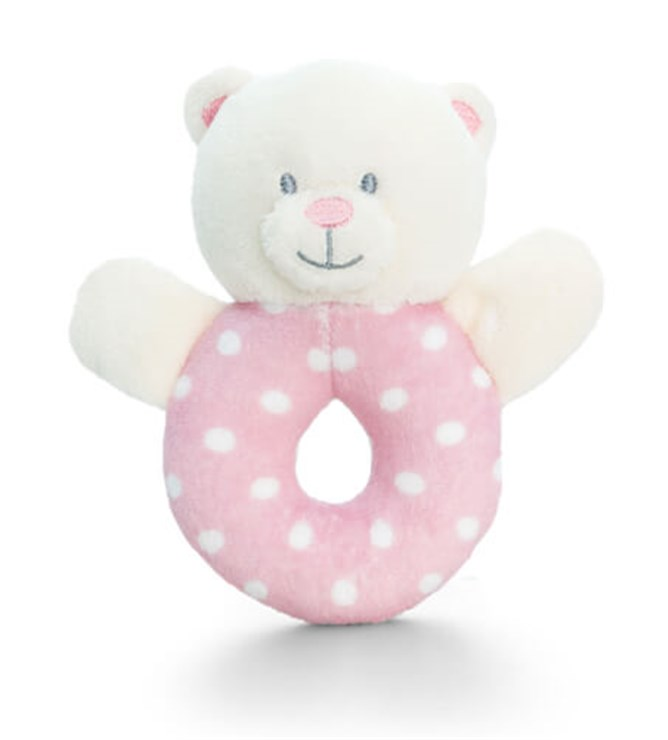 Baby Keel Baby Bear Ring Rattle 12cm Mixed colors plüss - Brendon - 112951