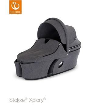 Stokke Xplory Carry Cot Black Melange babakocsivázra rögzíthető mózeskosár fab6a2350b